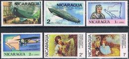 Nicaragua 1976 / 78  -  Yvert  1064 / 65 + 1069 / 70 + 1085 / 86   ( ** ) - Nicaragua