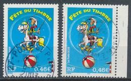 France - Fête Du Timbre - Lucky Luke YT 3546 + 3546a Obl - France