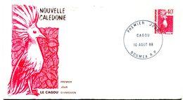 Nouvelle Calédonie - FDC Yvert 559 Cagou - X 1087 - FDC