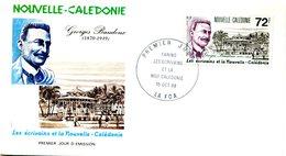 Nouvelle Calédonie - FDC Yvert 564 Baudoux écrivain - X 1091 - FDC