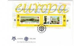 ISLE OF MAN - FDC - 2006 - BLOC Cinquantenaire Des émissions EUROPA - Man (Insel)