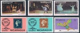 Nicaragua 1976 / 78  -  Yvert  1057 + 1059 + 1075 / 77 + 1110   ( ** ) - Nicaragua