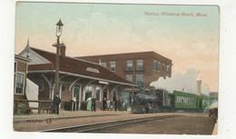 WINTHROP BEACH, Massachusetts, USA, Railroad Station / Depot, 1909 Postcard - Etats-Unis