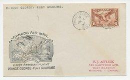 FFC / First Flight Cover Canada 1937 Weasel - Ohne Zuordnung
