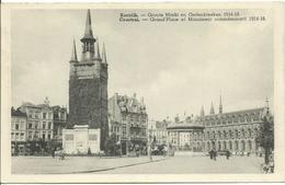 Kortrijk  Groote Markt En Gedenkteken 1914-18  3 - Kortrijk