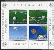 YUGOSLAVIA - COPPA DEL MONDO ESPANA 1982 -  NUOVO** - (YVERT 1807/1810 - MICHEL BL 20) - 1982 – Espagne