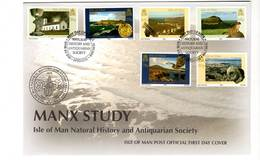 ISLE OF MAN - FDC - 2006 - Antiquités Et Histoire Naturelle - Man (Insel)