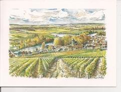 Carte Double Format 15x20 - Aquarelle Illustration Roland IROLLA - PAYSAGE CHAMPENOIS - Autres Illustrateurs
