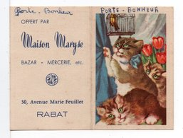CPA - CALENDRIER PETIT FORMAT 1954 - MAISON MARYSE A RABAT (MAROC) - Calendars