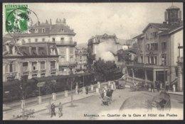 Montreux - Quartier De La Gare - Bahnhof - Train à Vapeur - Dampflok - 1911 - VD Vaud