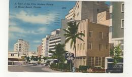MIAMI BEACH, Florida, USA, Art Deco Hotels- Casablanca & Rio, 1952 Linen Postcard - Miami