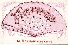 27  Amitiés De Montigny Sur Avre Eventail - France