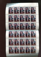Belgie 1972 1638 Jeugdfilatelie Painting Constant Permeke Gustave De Smet Luppi Full Sheet MNH Plaatnummer 1 Corner Fold - Feuilles Complètes