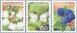 ESLOVENIA 2002 - SLOVENIE - FRUTOS - FRUITS - YVERT Nº 370-372** - Slovénie
