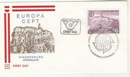 1978 Riegersburg Special FDC RIEGERSBURG CASTLE Europa Stamps AUSTRIA Cover Mountain - Castles