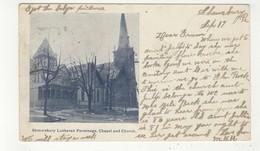 SHREWSBURY, Pennsylvania, USA, Lutheran Parsonage, Chapel & Church, 1906 UB Postcard - Etats-Unis