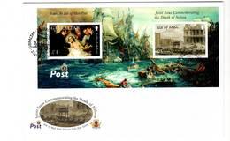 ISLE OF MAN - FDC - 2005 - BLOC Bataille De Trafalgar - Man (Insel)