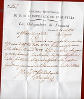 FERRARA 1815 GOVERNO PROVVISORIO AUSTRIACO LETTERA COMPLETA DI TESTO PER  CODIGORO DEL 20/1/1815 - ...-1850 Préphilatélie