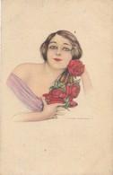 CPA - Thèmes - Illustrateur - Nanni - Avant 1930 - Portrait De Femme - Rose - Illustrators & Photographers