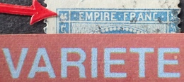 R1917/135 - NAPOLEON III N°22 - ETOILE De PARIS - VARIETE ➤➤➤ Grosse Tache Sur La Rosette N/O + Piquage Décalé - 1862 Napoleon III