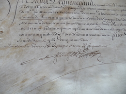Pièce Signée Velin Dequenegaud Reçu 1647 Piemont Armée D'Italie - Autógrafos