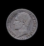 BELGIE LEOPOLD I 1/4 FRANC 1850  TOP KWALITEIT   6 SCANS - 06. 1/4 Franc