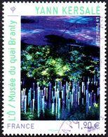 Oblitération Cachet à Date Sur Timbre De France N° 4935  Oeuvre De Yann Kersalé L'Ô / Musée Du Quai Branly - Used Stamps