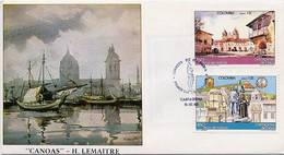 Lote 1646-7F, Colombia,1983, SPD-FDC, 450 Años De Cartagena, Heritage City, Painting - Colombie