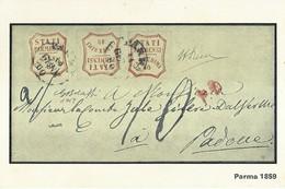 """3289 """"PARMA 1859 """" SERIE I-IL COLLEZIONISTA/ITALIA FILATELICA-CART. POS. ORIG. NON SPEDITA - Francobolli (rappresentazioni)"""