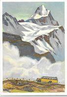 """Schweiz Suisse 1953: Bild-PK """"Alpenpost"""" CPI Mit Zu 315 Mi 587 Yv 538 Mit ET-o BERN 8.X.53 Ausgabetag - Bussen"""
