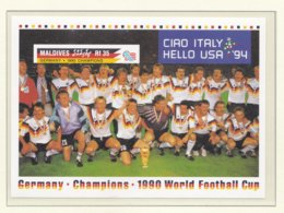 Maldives 1994 World Cup FIFA Football In USA Souvenir Sheet  MNH/** (H49) - Fußball-Weltmeisterschaft