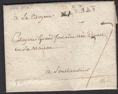HAUTE SAONE : Pli De MARNAY De 1795 En Port Du à 7 Décimes Avec Marque Postale Linéaire 69 / MARNAY > LONS LE SAUNIER - Marcophilie (Lettres)