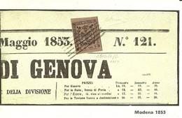 """3291 """" MODENA 1853 """" SERIE I-IL COLLEZIONISTA/ITALIA FILATELICA-CART. POS. ORIG. NON SPEDITA - Francobolli (rappresentazioni)"""