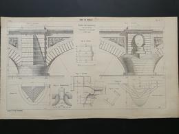 4ANNALES DES PONTS Et CHAUSSEES (DEP 71) - Pont De Navilly - 1904 (CLC80) - Nautical Charts