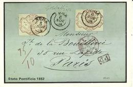 """3292 """" STATO PONTIFICIO 1852 """" SERIE I-IL COLLEZIONISTA/ITALIA FILATELICA-CART. POS. ORIG. NON SPEDITA - Francobolli (rappresentazioni)"""