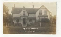 SPRINGFORD, Ontario, Canada, Methodist Parsonage, Minister?, Old RPPC, Oxford County - Ontario