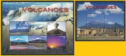 Gambia (2016) Volcanoes Of The World - Full Set (sheetlet + S/s) - MNH - Vulcani