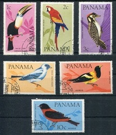 PAJAROS, AVES, OISEAUX, BIRDS. PANAMA AÑO 1966 YVERT 417 / 420 SERIE COMPLETE OBLITEREE LILHU - Collections, Lots & Séries