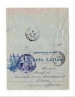 CARTE LETTRE ECRITE DE 1916 - Postmark Collection (Covers)