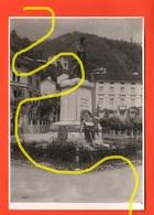 Recoaro Centro Monumento Caduti Prima Guerra Banca Al Retro Sede Popolare Di Valdagno - Luoghi