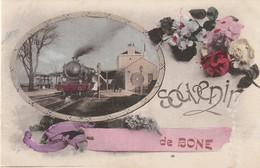 11-8---------bone----souvenir De Bone ---vue De La Gare - Otras Ciudades