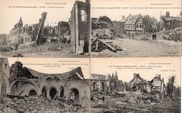 CPA 80 Somme Roye Guerre De 14 France Reconquise 1917 Aspect Ruines église Rue St Pierre Nord Sucrerie Détruite - Roye