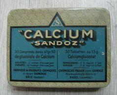 AC - CALCIUM  SANDOZ EMPTY TIN BOX - Medical & Dental Equipment