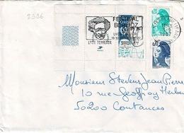 TP  N° 2396 Avec Complément En Marianne Sur Enveloppe De Lyon Terraux - Marcophilie (Lettres)