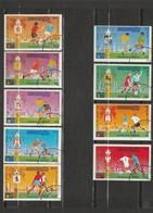 Cambodge - Lot 9 Timbres Coupe Du Monde FIFA - - Cambogia