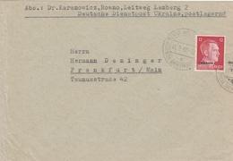 Occupation Allemande En Ukraine Lettre De Service 1942 - Besetzungen 1938-45
