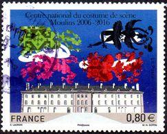 Oblitération Cachet à Date Sur Timbre De France N° 5042 - Centre National Du Costume De Scène Moulins - Used Stamps