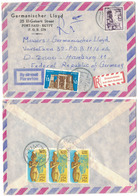 E56    Egypt 1987 Port-Said Cover Registered  To Germany - Egitto