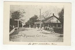 RIDGEWAY, Ontario, Canada, McLeod House & Livery, RR Crossing, Pre-120 Postcard, Welland County - Ontario