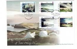 ISLE OF MAN - FDC - 2002 - Aquarelles De Toni Onley - Isla De Man